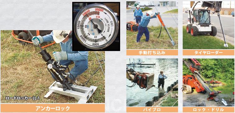 油圧ゲージによる引き抜き耐力測定