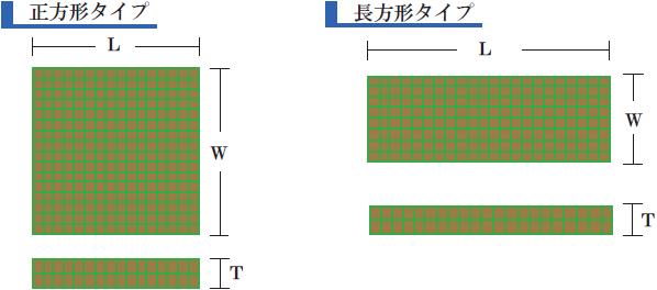 規格(正方形・長方形タイプ)
